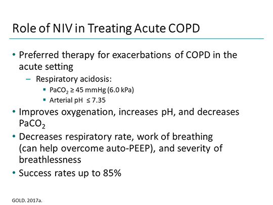 Updates on Noninvasive Ventilation in COPD (Transcript)