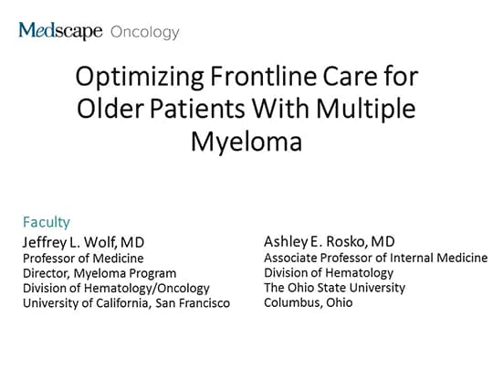 Optimizing Frontline Care for Older Patients With Multiple