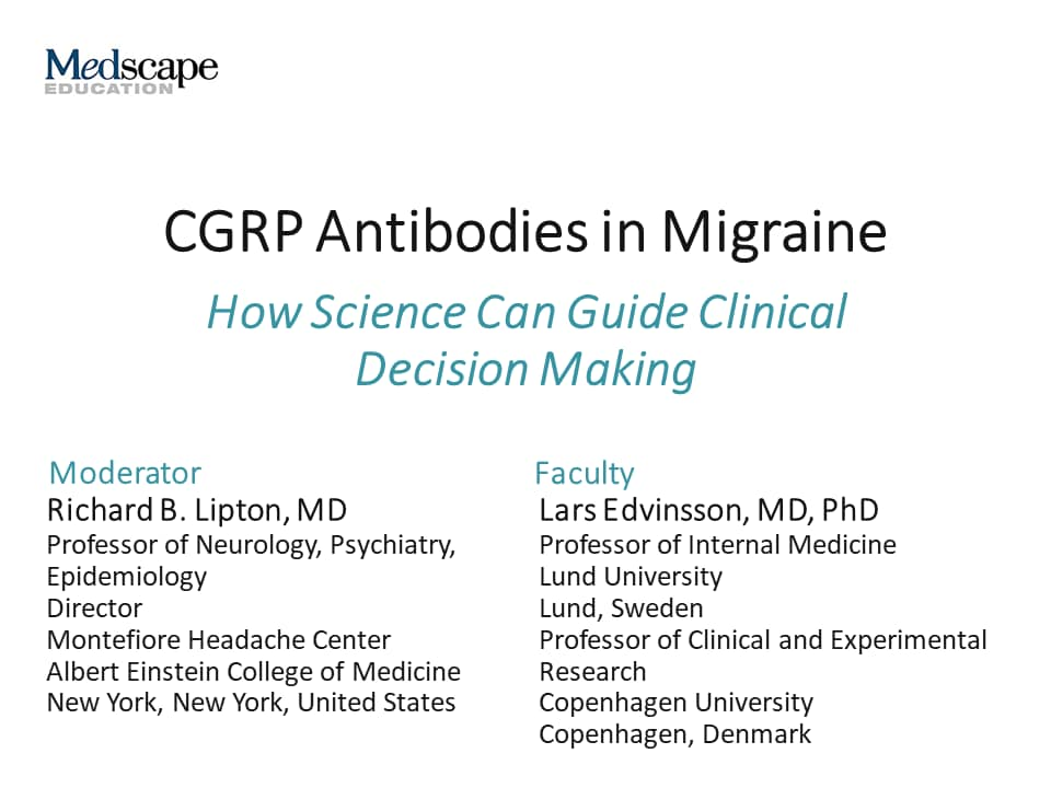 9d47b6e366d2 CGRP Antibodies in Migraine  How Science Can Guide Clinical Decision ...