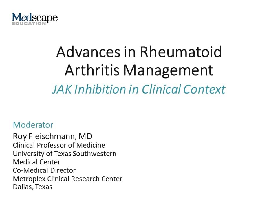 Advances In Rheumatoid Arthritis Management Jak Inhibition In Clinical Context