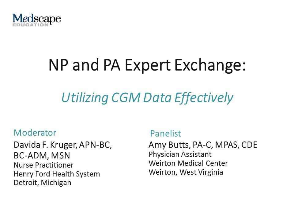 NP and PA Expert Exchange: Utilizing CGM Data Effectively