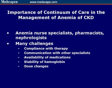 Unmet Anemia Needs in Patients with CKD