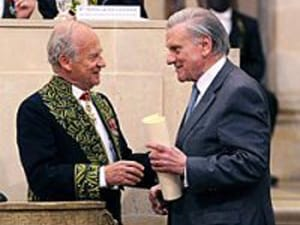 Dr Alain Carpentier Presents The 2011 Grand Prix Scientifique To Dr Valentin  Fuster [Source: Institute De France]