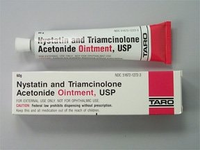 nystatin-triamcinolone 100,000 unit/gram-0.1 % topical ointment