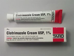 clotrimazole 1 % topical cream