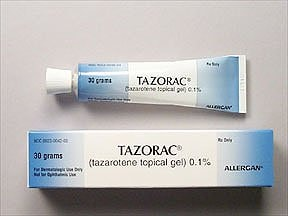 Tazorac 0.1 % topical gel