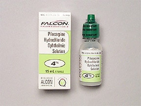 pilocarpine 4 % eye drops