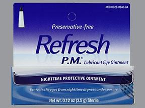 Refresh P.M. 57.3 %-42.5 % eye ointment