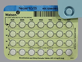 Necon 0.5/35 (28) 0.5 mg-35 mcg tablet