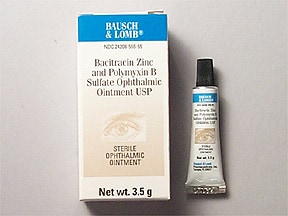 bacitracin-polymyxin B 500 unit-10,000 unit/gram eye ointment
