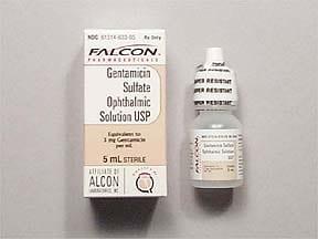 gentamicin 0.3 % eye drops