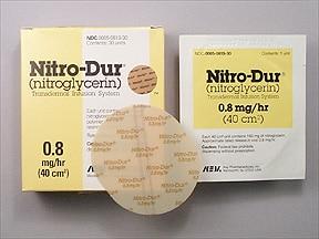 Nitro-Dur 0.8 mg/hr transdermal 24 hour patch