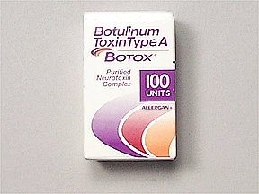 Botox 100 unit injection