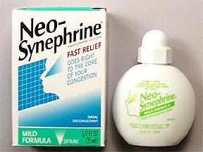 Neo-Synephrine (phenylephrine) 0.25 % nasal spray