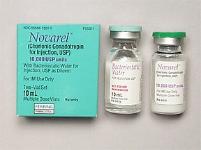Novarel 10,000 unit intramuscular solution