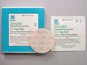 estradiol 0.1 mg/24 hr weekly transdermal patch