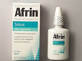Afrin Sinus (Oxymetazoline) Nasal : Uses, Side Effects