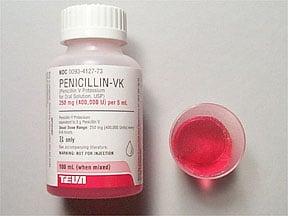penicillin V potassium 250 mg/5 mL oral solution