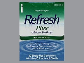 Refresh Plus 0.5 % eye drops in a dropperette