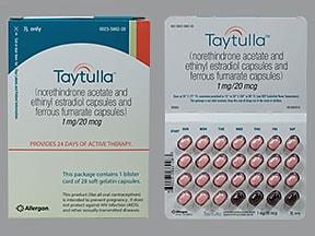 Taytulla 1 mg-20 mcg (24)/75 mg (4) capsule