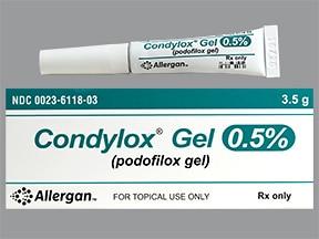 Condylox 0.5 % topical gel