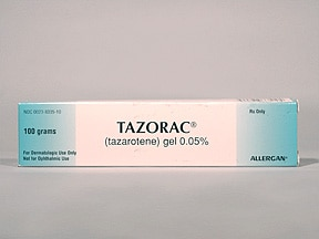 Tazorac 0.05 % topical gel