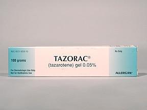 Tazorac 0.05 % topical gel