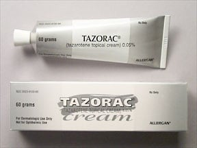 Tazorac 0.05 % topical cream