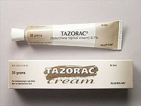 Tazorac 0.1 % topical cream