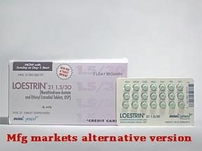 Loestrin 1.5/30 (21) 1.5 mg-30 mcg tablet