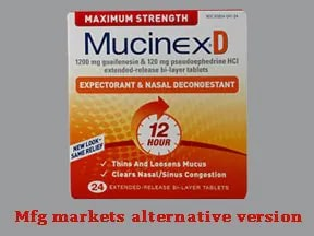 Mucinex D Maximum Strength 120 mg-1,200 mg tablet,extended release