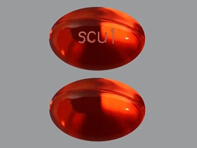 docusate sodium 100 mg capsule