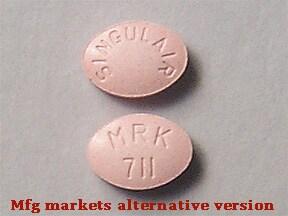 Singulair 4 mg chewable tablet