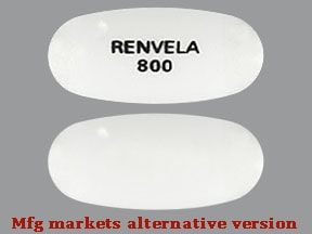 sevelamer carbonate 800 mg tablet