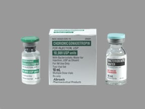 chorionic gonadotropin, human 10,000 unit intramuscular solution