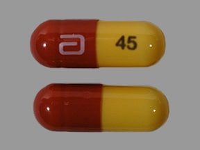 fenofibric acid (choline) 45 mg capsule,delayed release