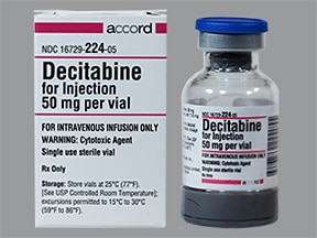 decitabine 50 mg intravenous solution