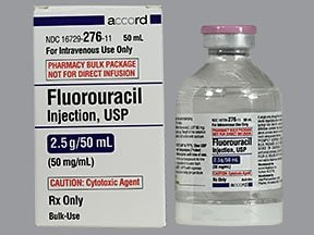 fluorouracil 2.5 gram/50 mL intravenous solution