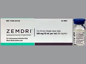 Zemdri 50 mg/mL intravenous solution