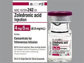 zoledronic acid 4 mg/5 mL intravenous solution