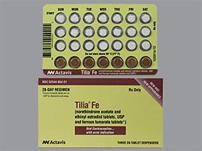 Tilia Fe 1-20 (5)/1-30(7)/1mg-35mcg(9) tablet