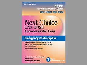 Next Choice One Dose 1.5 mg tablet