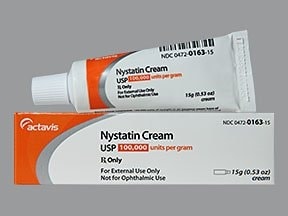 nystatin 100,000 unit/gram topical cream