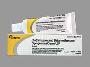 clotrimazole-betamethasone 1 %-0.05 % topical cream