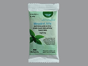 Minastrin 24 Fe 1 mg-20 mcg (24)/75 mg (4) chewable tablet