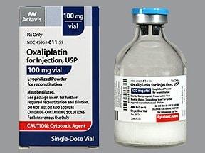 oxaliplatin 100 mg intravenous solution