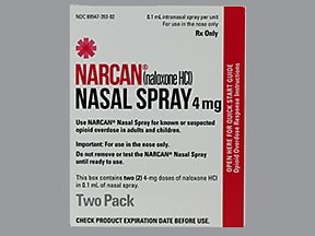 Narcan 4 mg/actuation nasal spray
