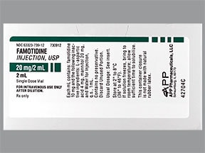 famotidine (PF) 20 mg/2 mL intravenous solution