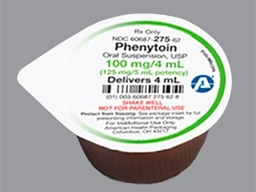 phenytoin 100 mg/4 mL oral suspension