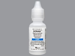 Gonak 2.5 % eye drops
